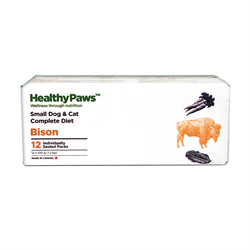 Healthy Paws Complete Dog & Cat Dinner Bison 12 x 100g