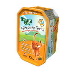 Emerald Pet Cat Dental Treat Tub 11oz - Chicken