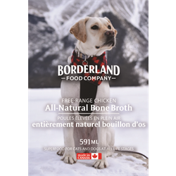 Borderland Free Range Chicken Bone Broth 591ml