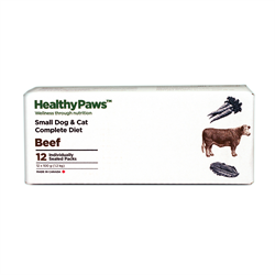 Healthy Paws Complete Dog & Cat Dinner Beef 12 x 100g