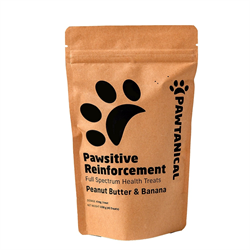 Pawtanical Pawsitive Reinforcement Hemp Health Treat 150g- P.B & Banana