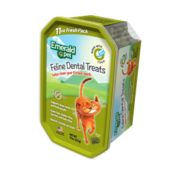Emerald Pet Cat Dental Treat Tub 11oz - Tuna