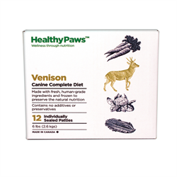 Healthy Paws Complete Dog Dinner Venison 12 x 1/2 lb