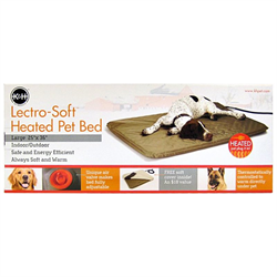 K & H Lectro-Soft Outdoor Heated Bed - Lg Tan