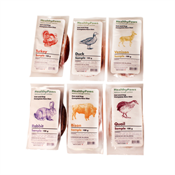 Healthy Paws Complete Dinner Samples Pack 24 x 100g (10 Proteins)