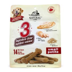 Omega Paw Natural Farm 3 Ingredient Bones 220g - Small