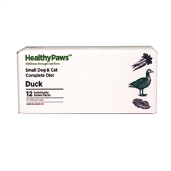 Healthy Paws Complete Dog & Cat Dinner Duck 12 x 100g