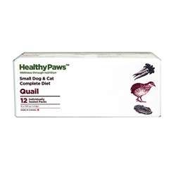 Healthy Paws Complete Dog & Cat Dinner Quail 12 x 100g