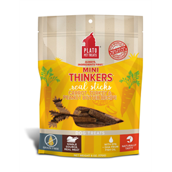 Plato Pet Treats Mini Thinkers Grain Free Carrot, Turkey & Peanut Butter 170g