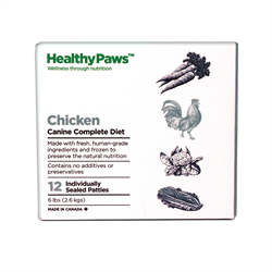 Healthy Paws Complete Dog Dinner Chicken 12 x 1/2 lb