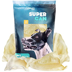 Super Can Large Cow Ears Natural (70/bag)