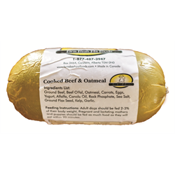 Farm Fresh Cooked Beef and Oatmeal 1lb