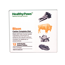 Healthy Paws Complete Dog Dinner Bison 12 x 1/2 lb