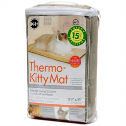 "K & H Thermo-Kitty Mat Assorted Colors 12.5"" X 25"""