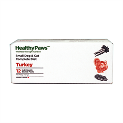 Healthy Paws Complete Dog & Cat Dinner Turkey 12 x 100g
