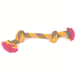 "Mammoth (25002F) Flossy Chews Extra - Small 9"" 2 Knot Bone"