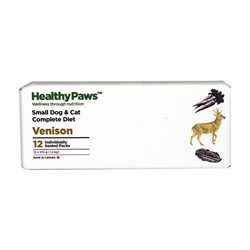 Healthy Paws Complete Dog & Cat Dinner Venison 12 x 100g
